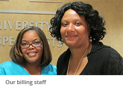 Our billing staff